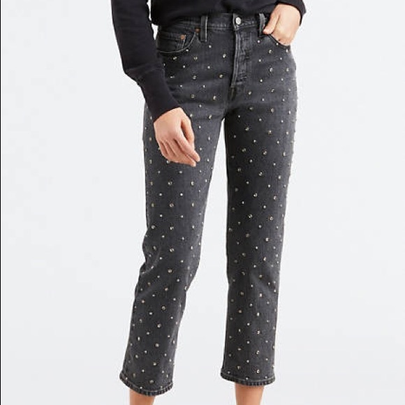 Levi's Denim - Levi's studded back wash 501 jeans